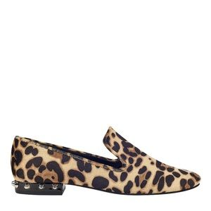 MARC FISHER Leopard Abree Studded Heel Flat